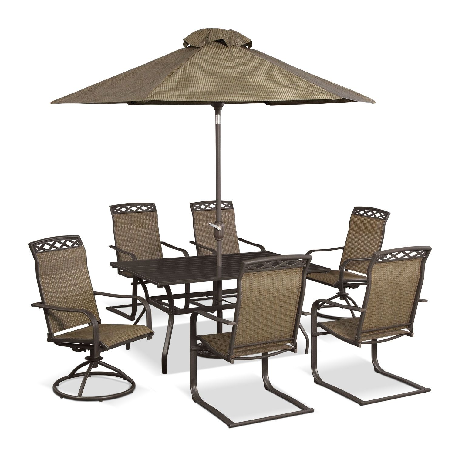 Outdoor Dining Is The New Thing We Love Patio Furniture Outdoor Furniture Terrace 9 Pc Outdoor Dining Room