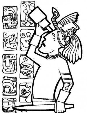 Mayan Civilization Coloring Page 12 Mayan Symbols Free Coloring