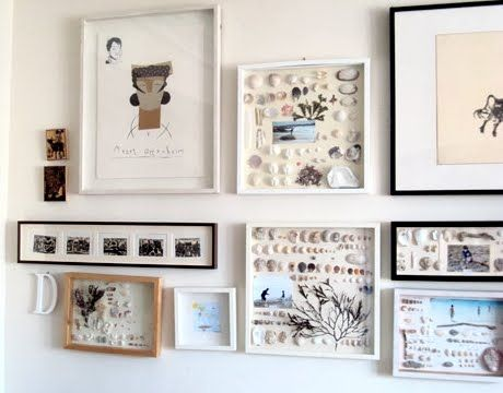 sea memories in frames | coastal crafts | Pinterest | Wall ideas ...