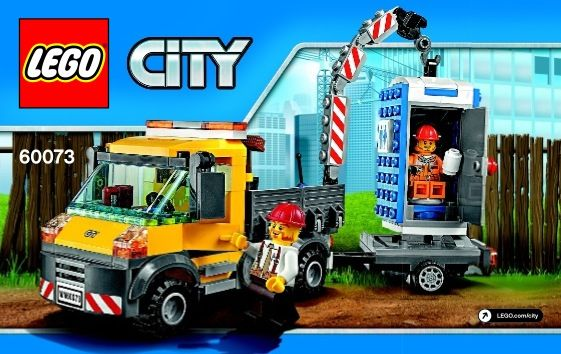 View Lego Instructions For Service Truck Set Number 60073 To Help