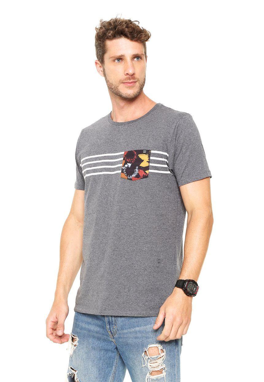 4bc946895ea12 Camiseta Billabong Pool Side Cinza - Compre Agora