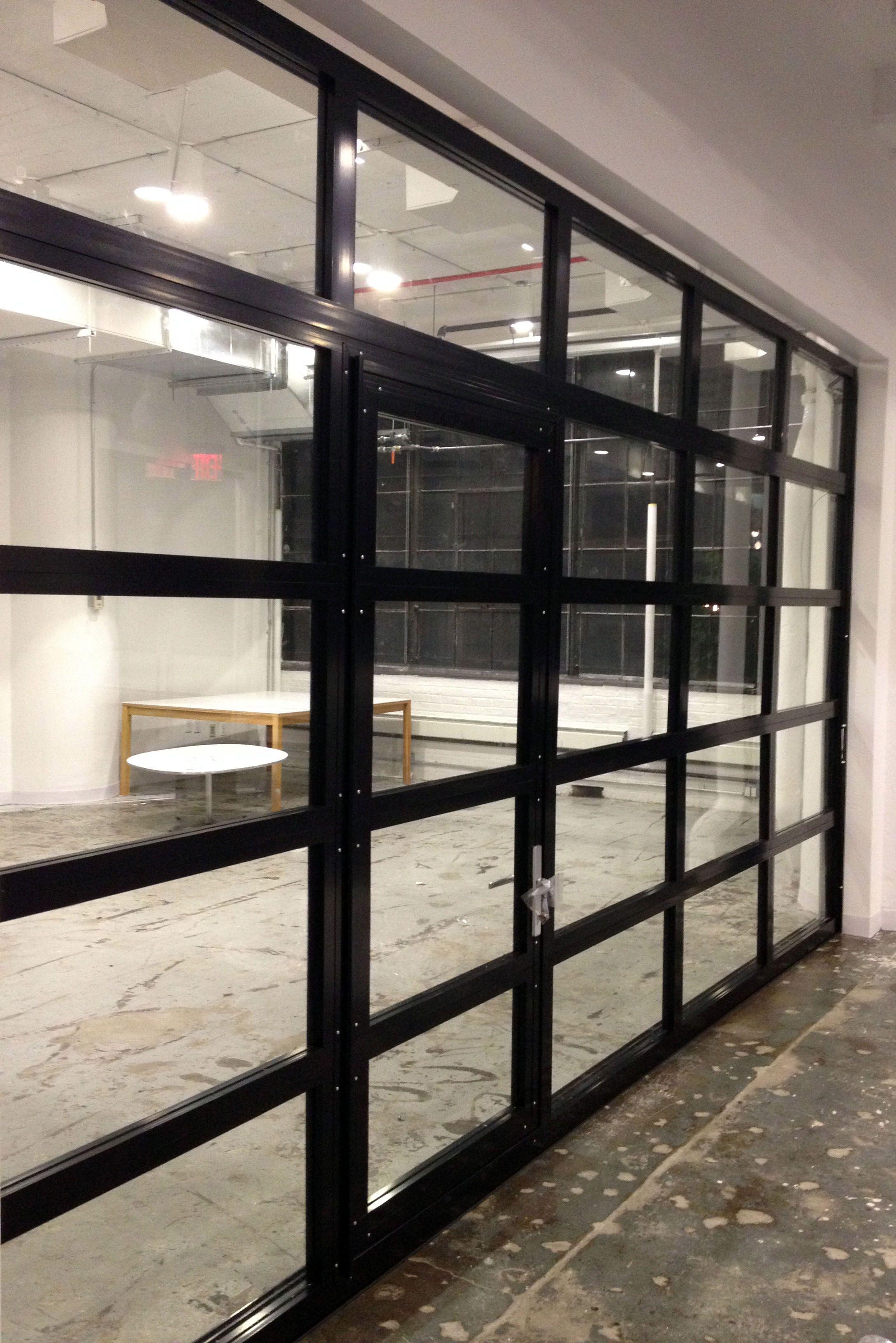 full view garage doorGlassPassingDoor  Full View Aluminum Glass Garage Door with
