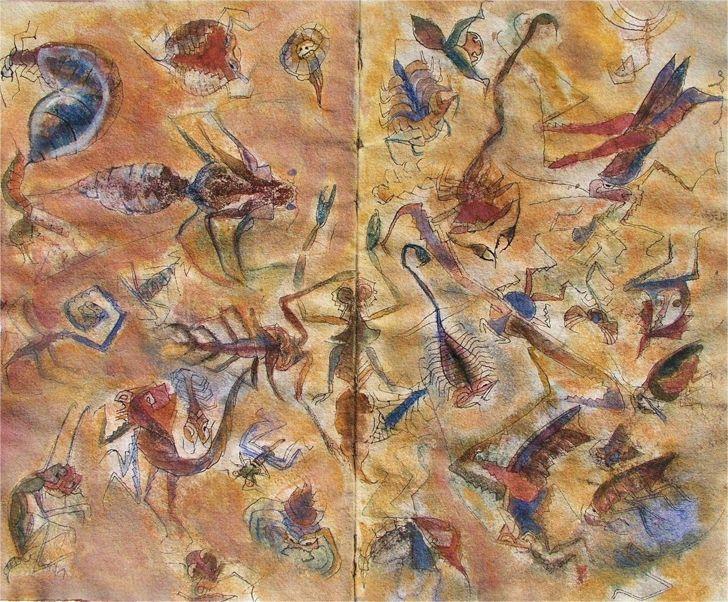 Resultado de imagen para pinturas contemporaneas mexicanas francisco toledo