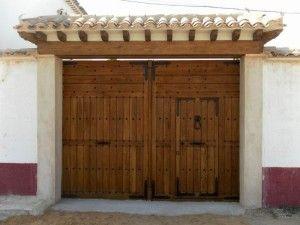 Port n de madera 3 arquitectura pinterest puertas for Portones madera rusticos