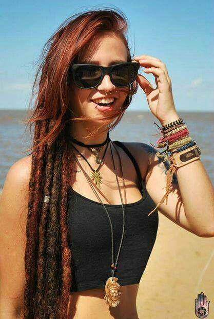 brown with bangs dreads dreadlocks