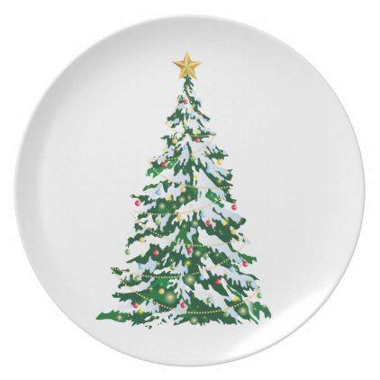 Holiday Plastic Plate-Christmas Tree Melamine Plate - holidays diy custom design cyo holiday family  sc 1 st  Pinterest & Holiday Plastic Plate-Christmas Tree Melamine Plate - holidays diy ...