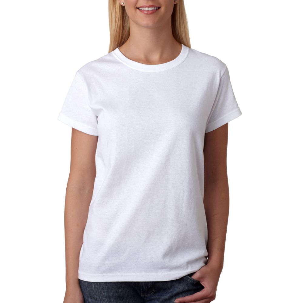 Womens white tee shirt google search products door for Women s crew t shirts