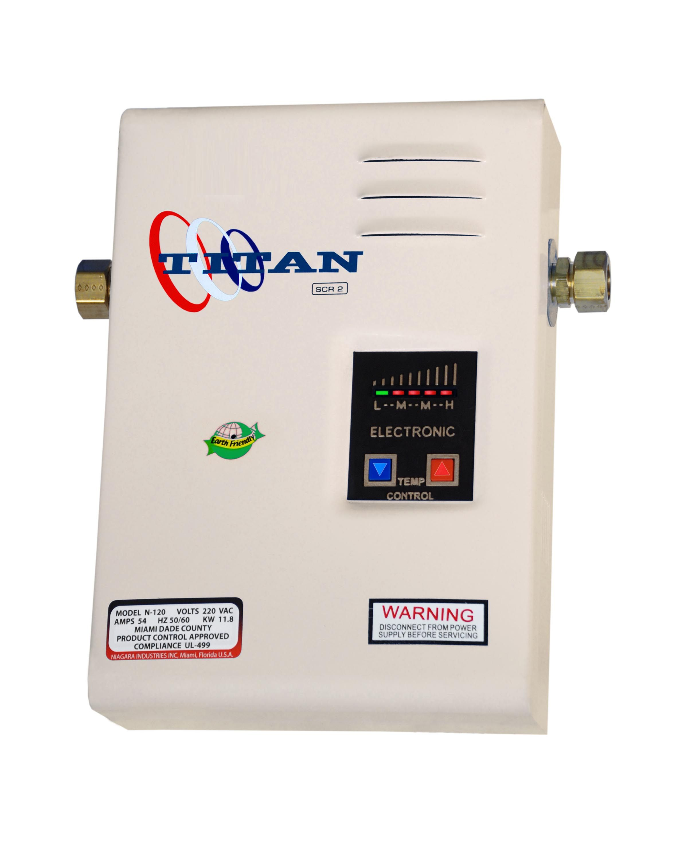 Niagara Industries Inc Manufactures Of The Titan Electronic Digital Tankless Water Electric Water Heater Tankless Water Heater Tankless Water Heater Electric