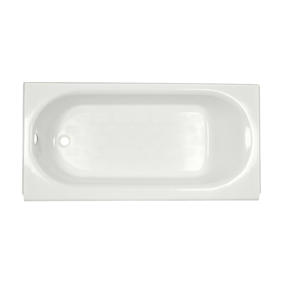 American Standard Princeton White Porcelain Enameled Steel Oval In ...