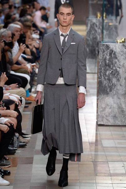 In The Thick Of It Exploring The Cultural Shift Towards Gender Fluidity Gender Neutral Fashion Gender Fluid Fashion Thom Browne Menswear