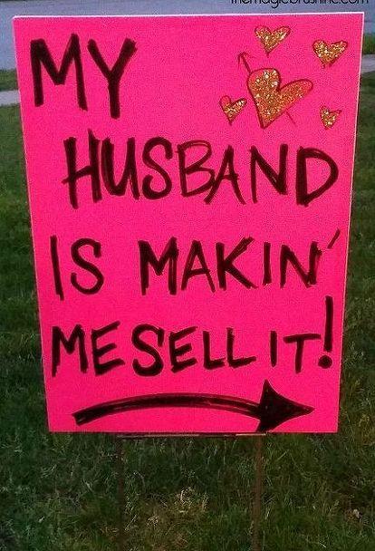 The FANCIEST-SCHMANCIEST Garage Sale Signs   garage sale
