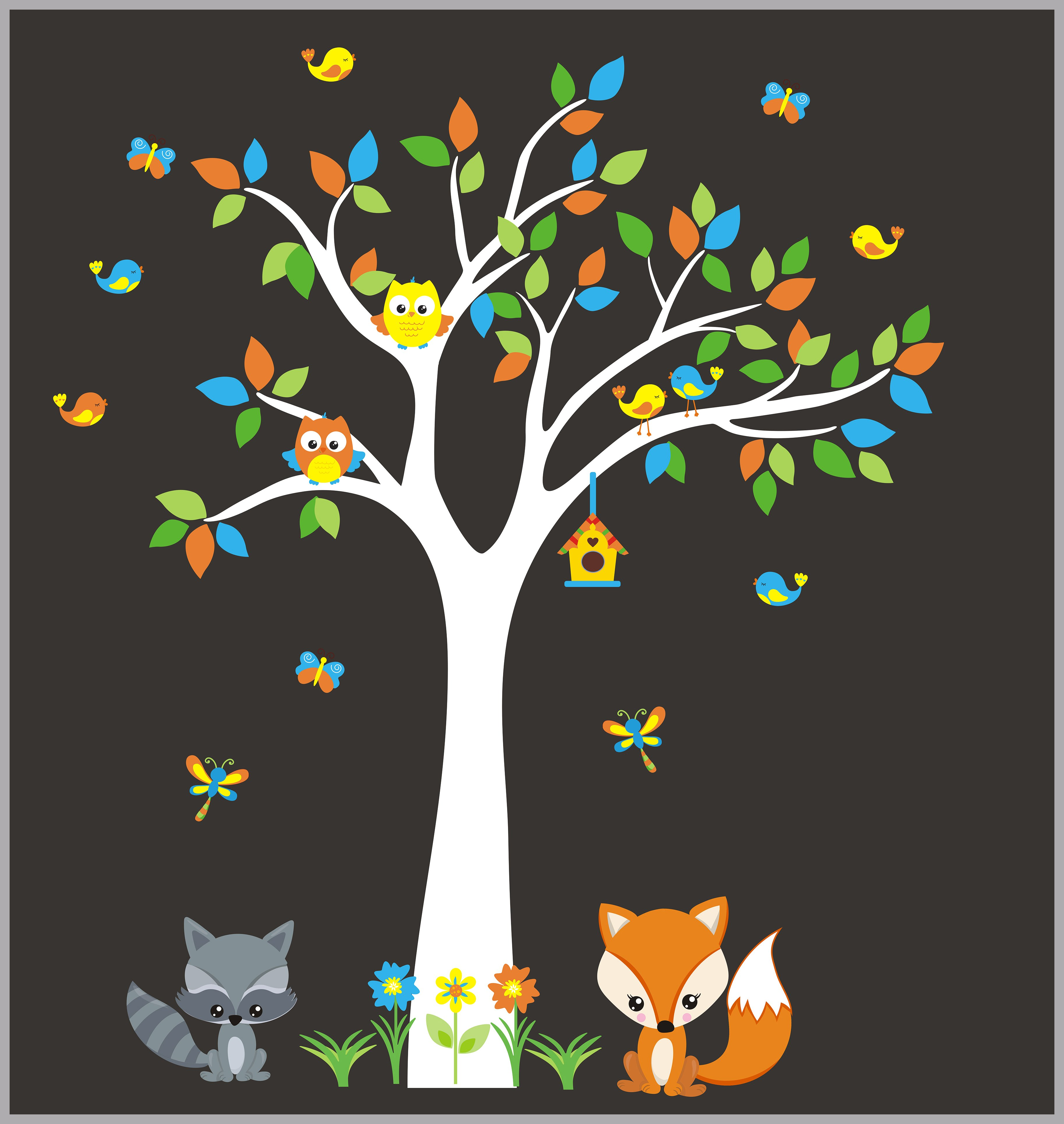 Nursery Wall Decal Woodland Forest Decals Kids