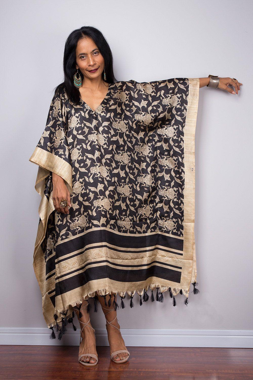 NEW African Kaftan Dress~Free Size Short Length Causual Beach Wear Tunic Caftan