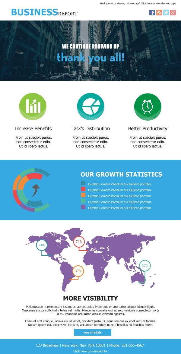 The Business Report #Creative #Email #Marketing #Templates For - business newsletter templates free