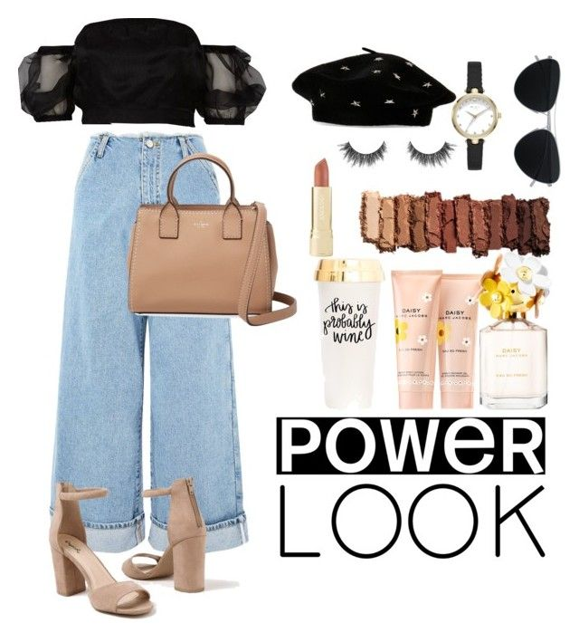 """Issa look"" by demeryjaguar on Polyvore featuring River Island, Topshop, Venus, Kate Spade, Steve Madden, Mykita, Axiology, Marc Jacobs and Urban Decay"