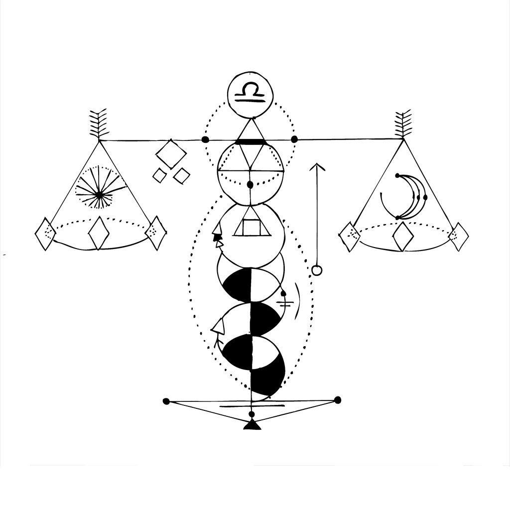 Geometric Libra   ink    Libra tattoo, Tattoos, Libra zodiac