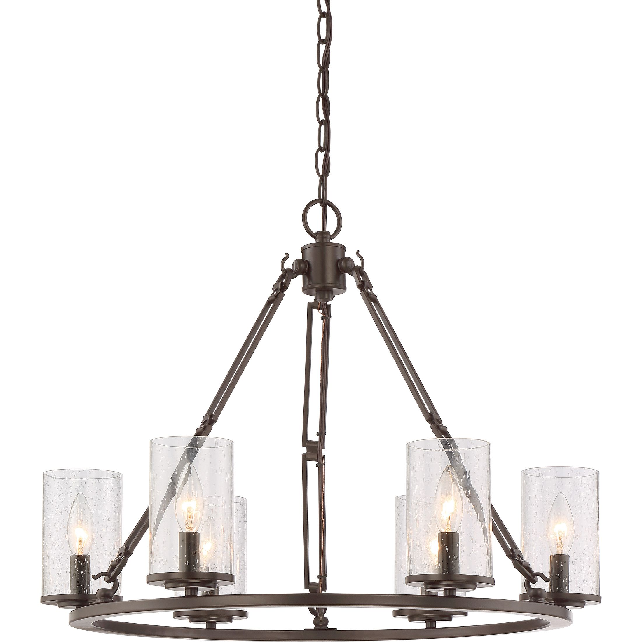 August Grove Brendan 6 Light Chandelier American Craftsmancraftsman Stylesimple