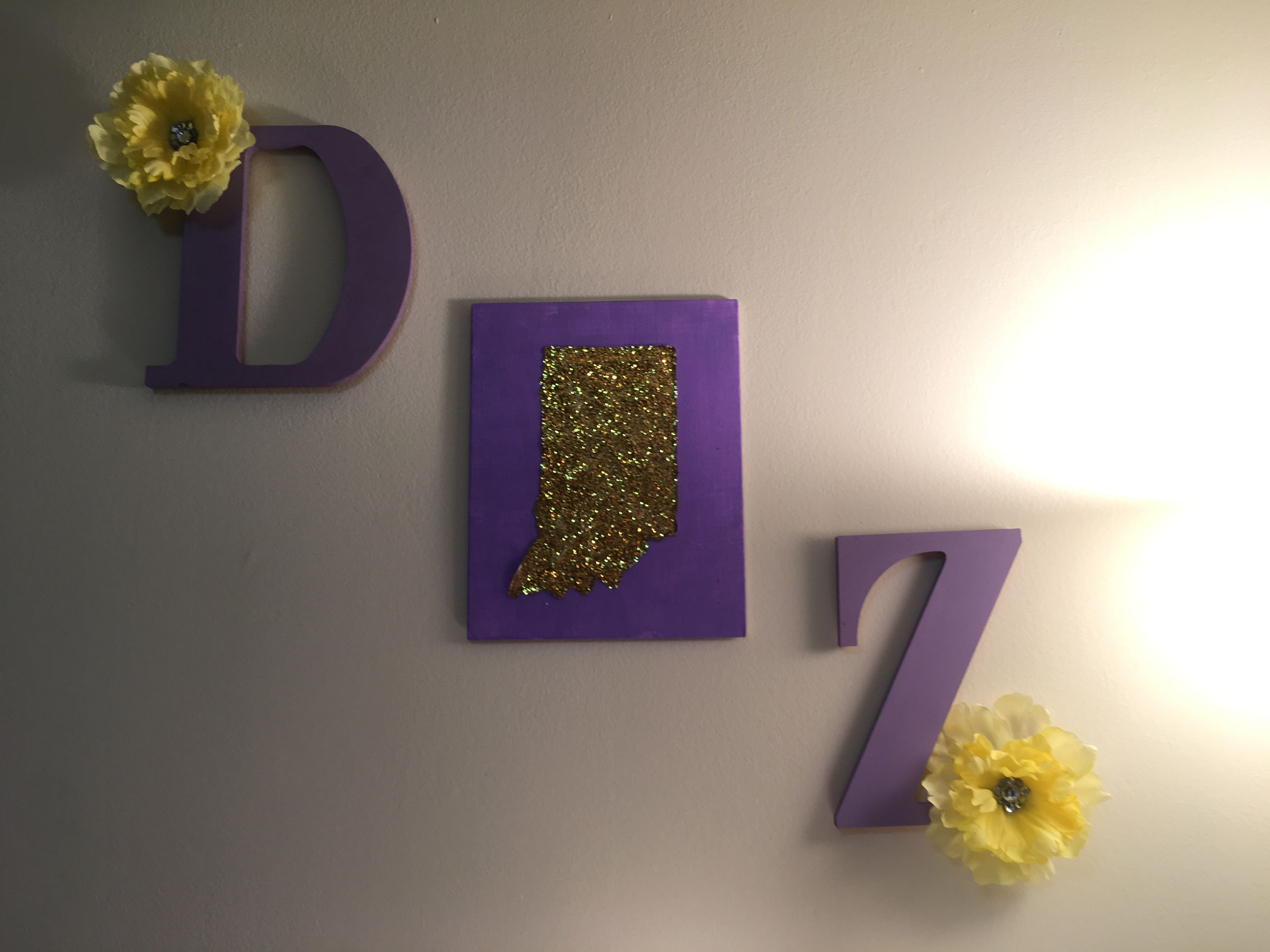 Delta Zeta wall decor