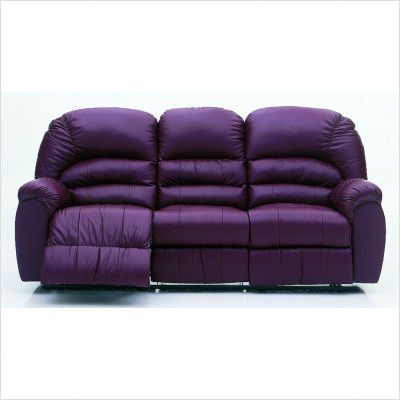A Purple Leather Sofa I D Never Leave It