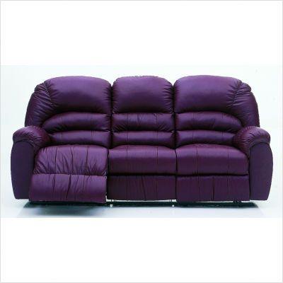 A Purple Leather Sofa I D Never Leave It Purple Couch Purple