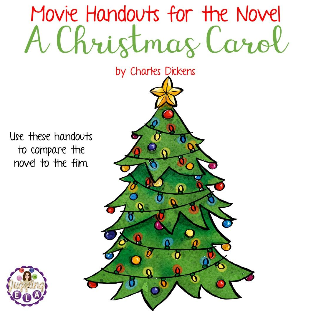 Movie Handouts For The Novel A Christmas Carol By Charles
