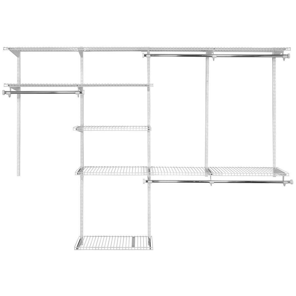 Rubbermaid 4 Ft.   8 Ft. Configurations Deluxe Custom Closet Kit In  White FG3H8900WHT At The Home Depot