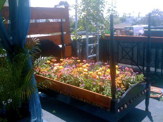The diy balcony flower bed gardening pinterest - Cheap flower bed ideas ...