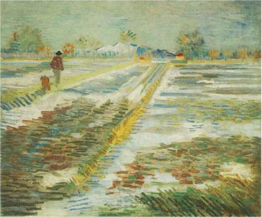 """Vincent van Gogh's """"Landscape in the Snow"""": A spattering of snow from van Gogh"""