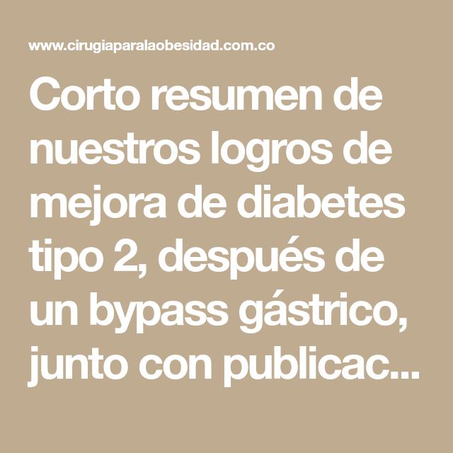 diabetes curada por bypass gástrico