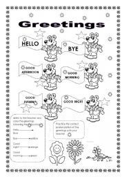 English worksheets greetings english learning for kids english worksheets greetings m4hsunfo