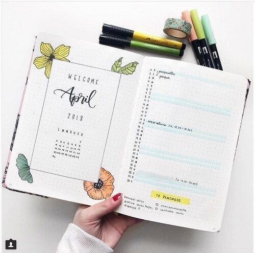 Gorgeous Bullet Journal Spread You'll Want to Copy - Sharp Aspirant