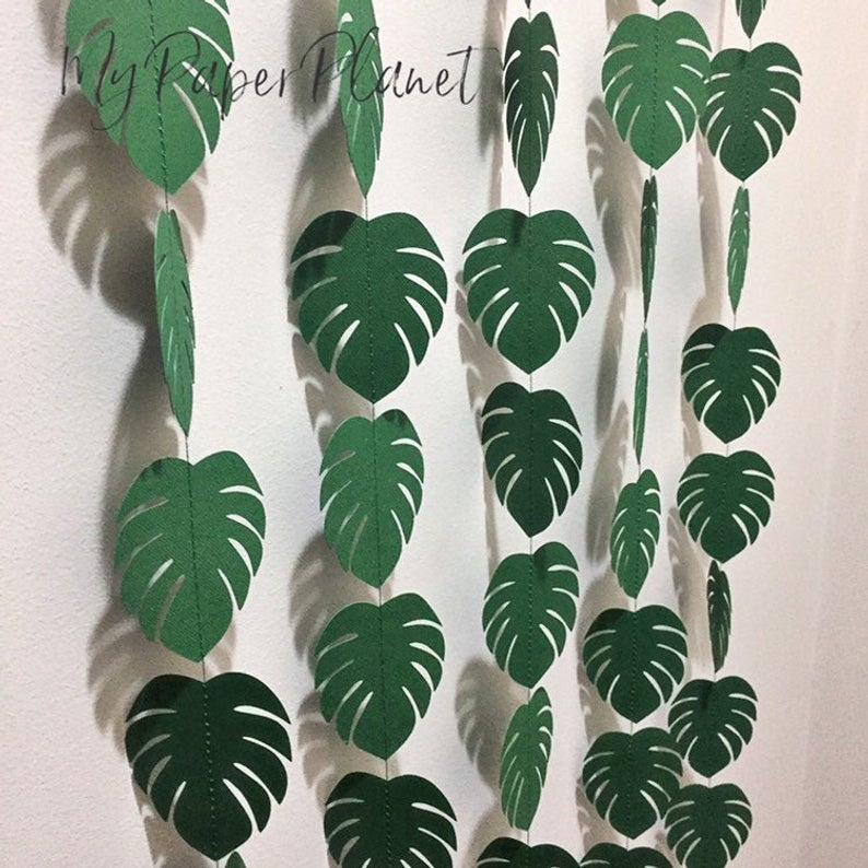 props green Tropical birthday nursery decor Tropical baby shower Palm leaf gold backdrop Party Decorations Tropical wedding shower