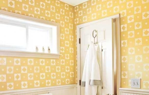 How to Add a Lively Wall Pattern with Stamps | Craft foam, Wall ...