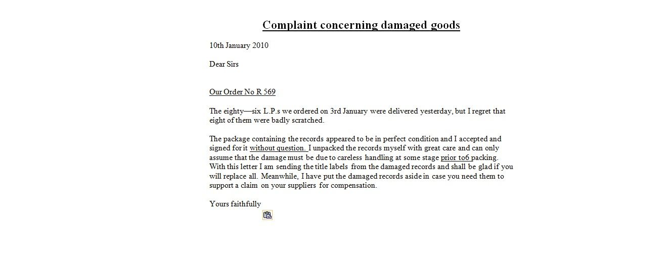 example complaint letter claim writing lawyer information portal - complaint letter sample