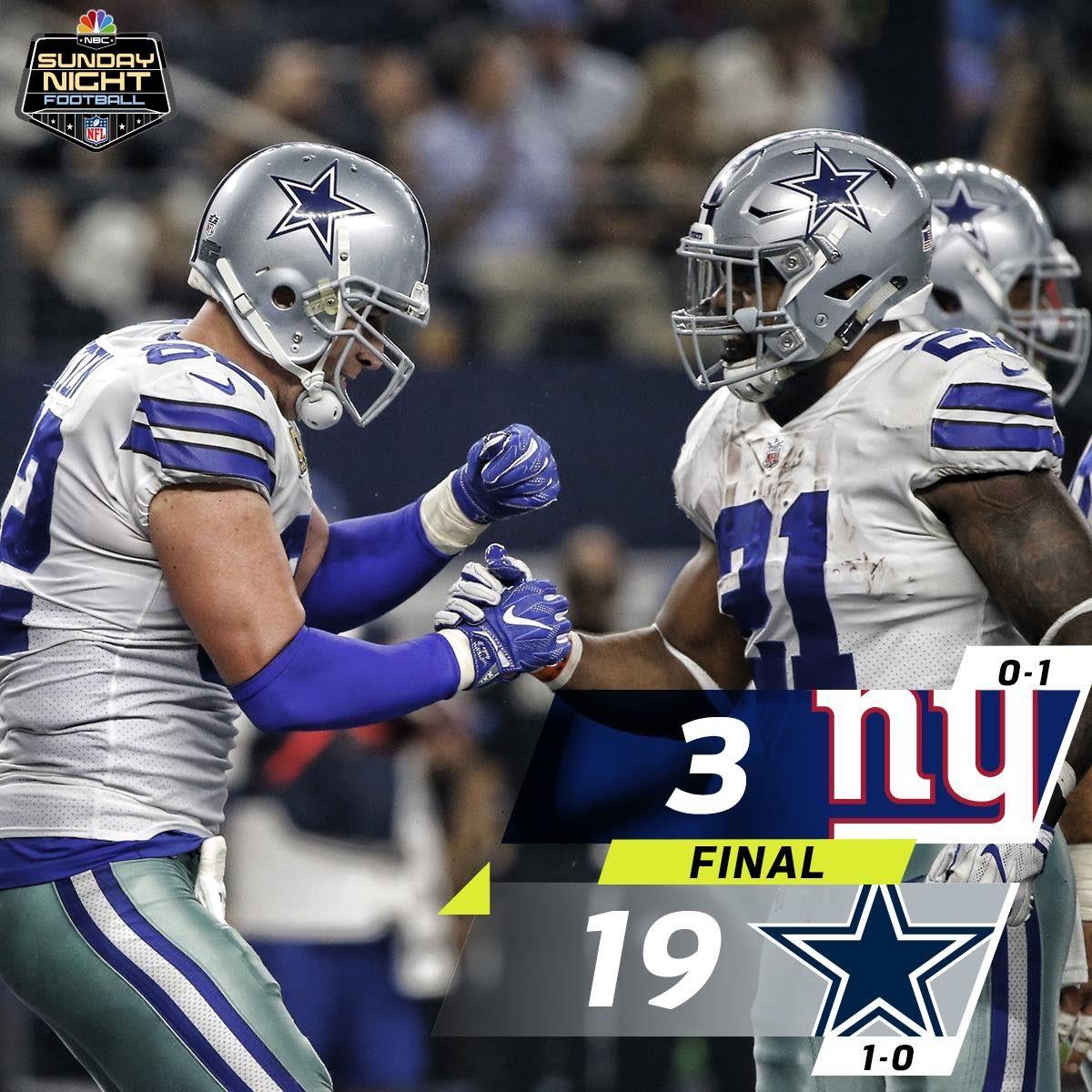 2017 season week 1 cowboys vs giants dallas cowboys