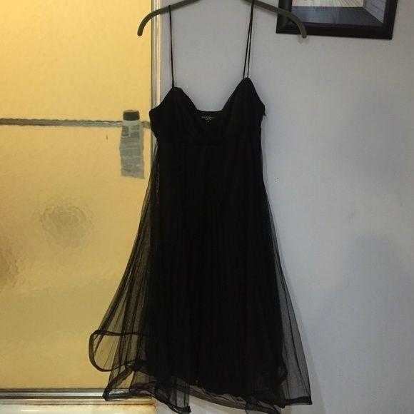 Betsey Johnson Tulle Dress Like new condition. Worn once. Betsey Johnson Black Spaghetti Strap Tulle Dress.. Beautiful Betsey Johnson Dresses Midi