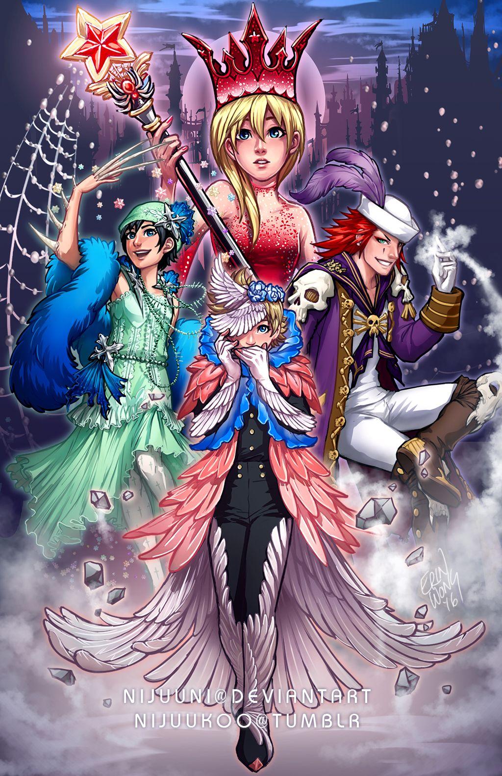 Fantasy Four Shindan Maker By Nijuuni Deviantart Com On Deviantart This Is So Weird And Yet I Lik Disney Kingdom Hearts Kingdom Hearts Art Kingdom Hearts