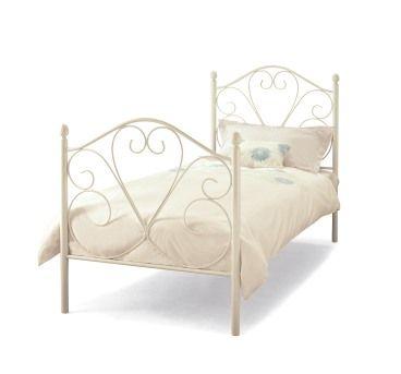 Serene Isabelle Metal Bed Frame Single Bed Frame White Metal Bed White Metal Bed Frame