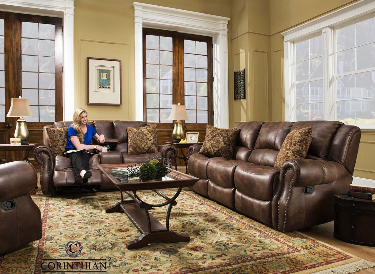Waylon Mocha Reclining Sofa And Glider Recliner Love Seat Quality