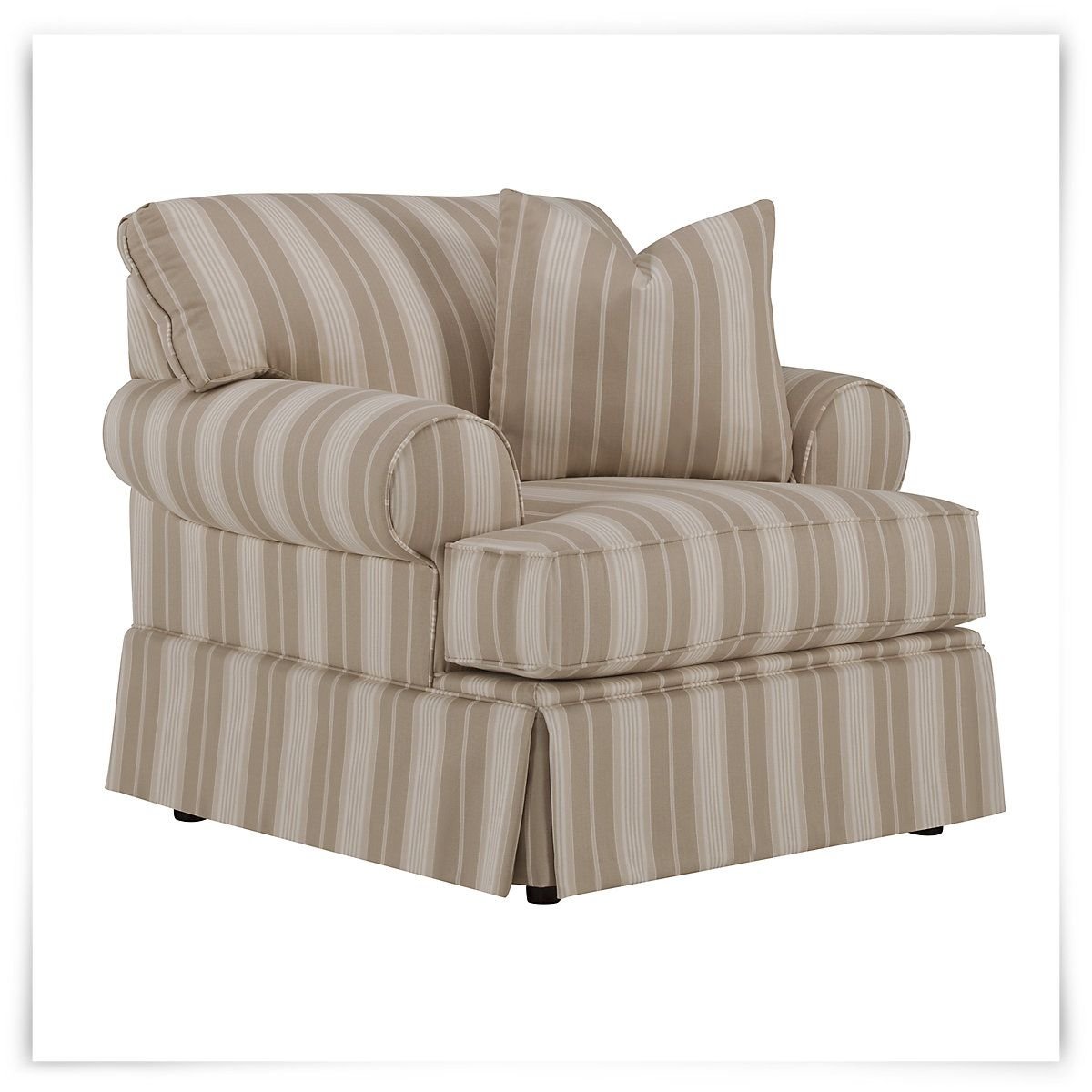 Jolie Beige Stripe Chair