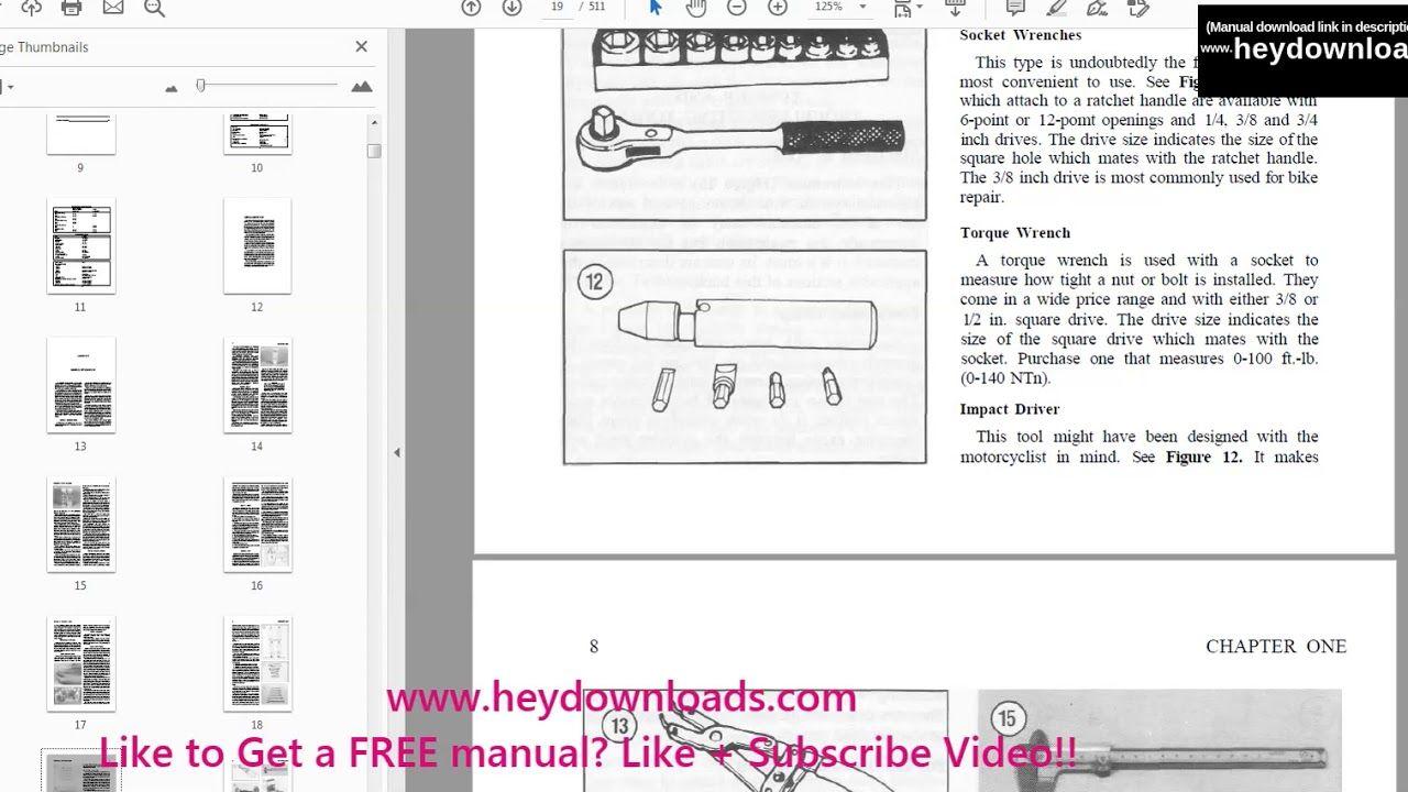 Yamaha Virago Xv 535 1100 1983 2003 Service Manual Pdf Download Yamaha Virago Manual Yamaha