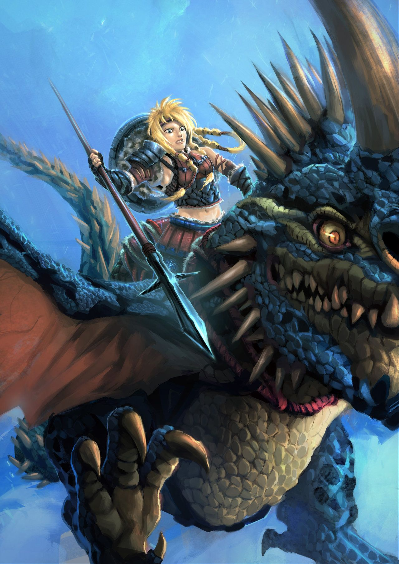 Learn how to draw changewing from how to train your dragon how to - Astrid How To Train Your Dragon By Moshyong