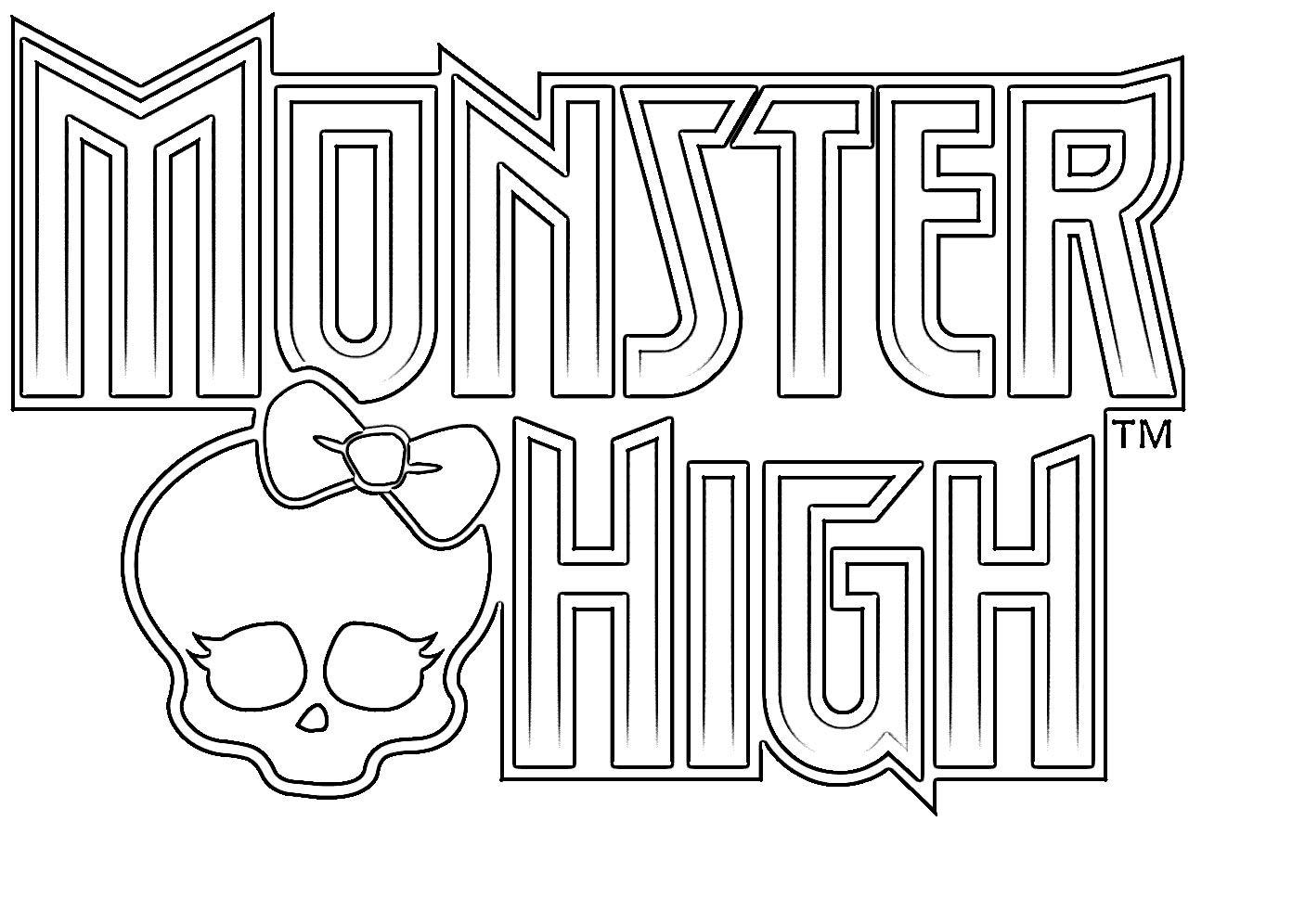 ausmalbilder monster high zum drucken