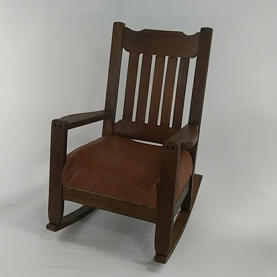 Antique mission oak rocking chair for sale wildwood