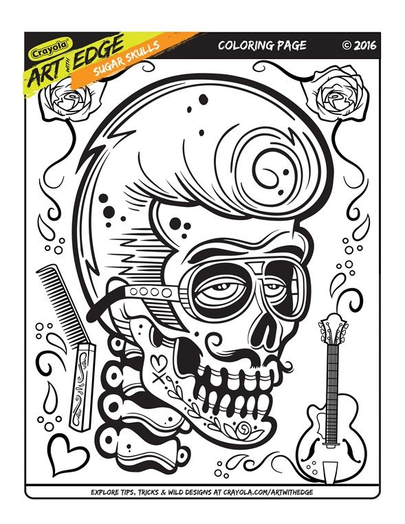 Art with Edge adult coloring trial page. Free printable