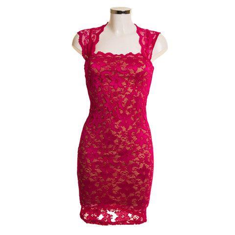 Fuchsia Pink Lace Dress   Debra Chigwell