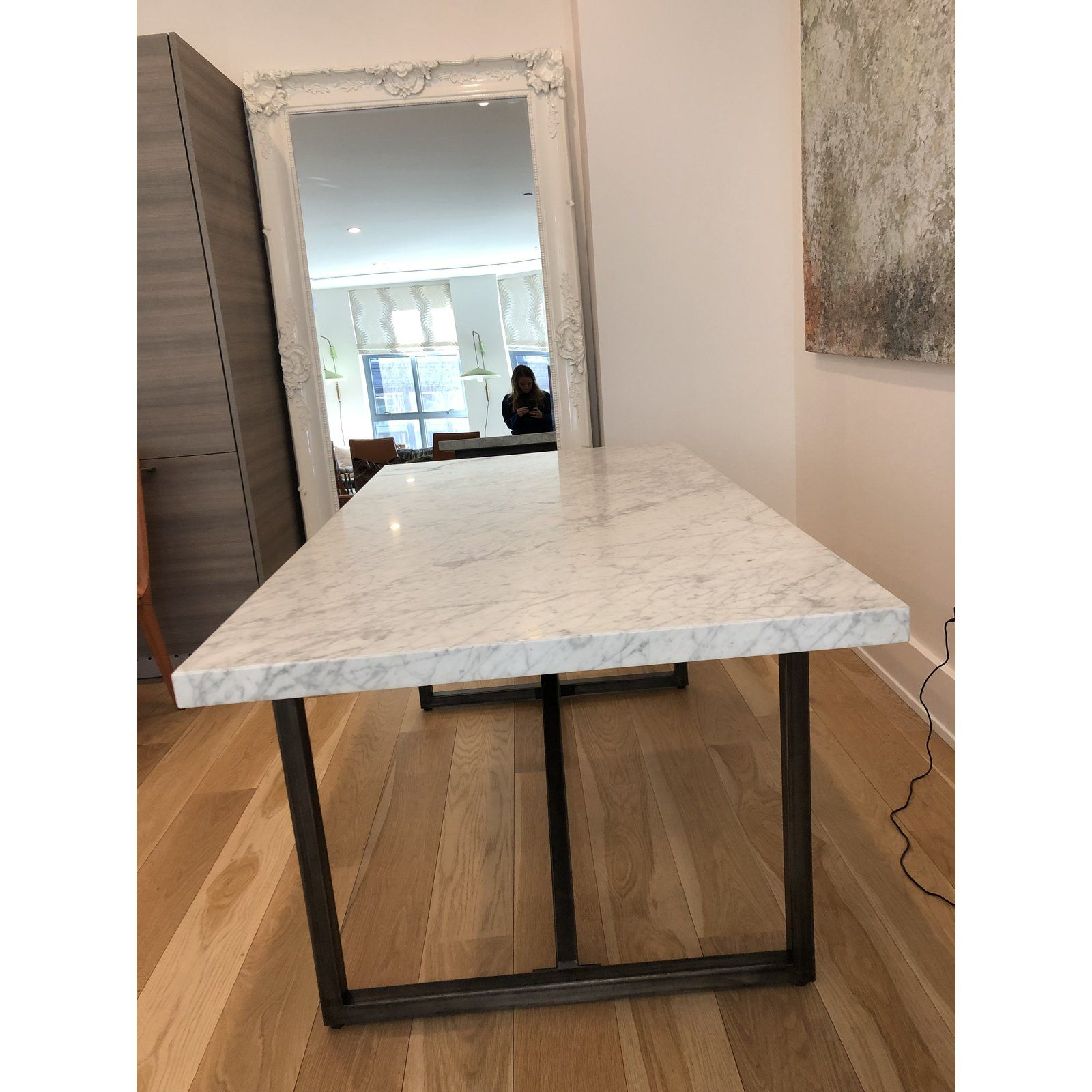 Italian Restoration Hardware Marble Dining Table Marble Top