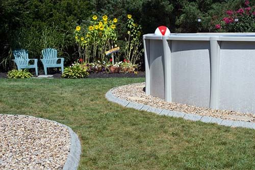 Use Stone Edge Decorative Edging For Around Your Above Ground Pool Chlor