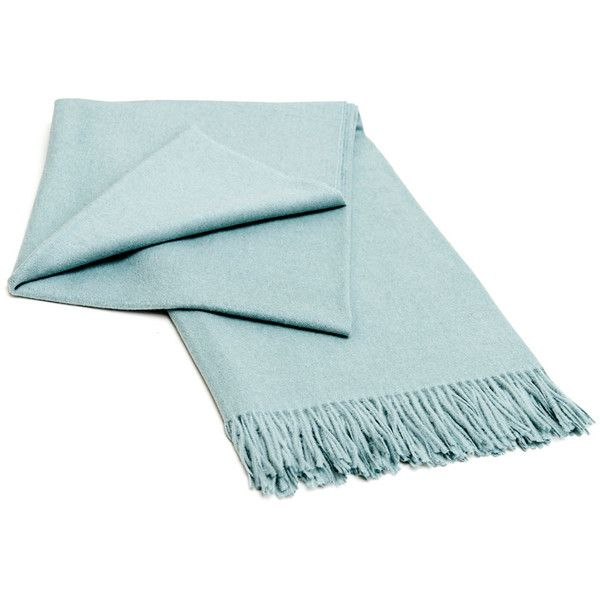 Elvang Classic Throw Mint Green 90 liked on Polyvore