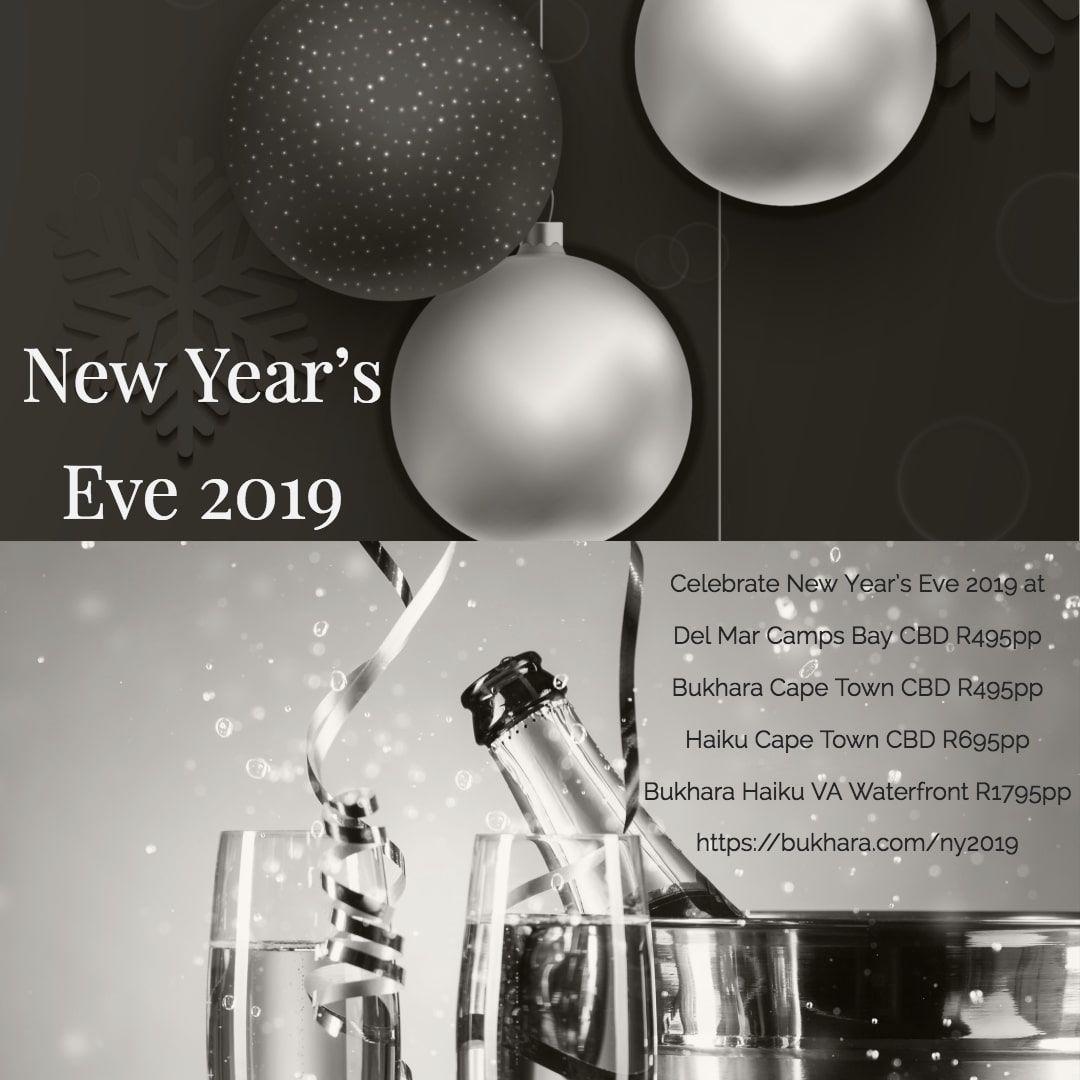 New Year Eve 2019 at Bukhara Haiku & Del Mar New year's